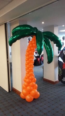 Palm tree balloon available from Cardiff Balloons