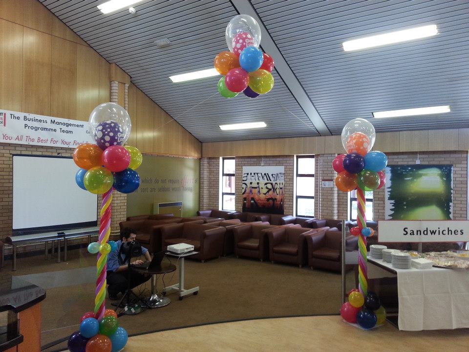 Party venue balloon decor cardiff balloons for Balloon decoration courses dvd