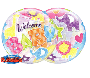New baby balloon from Cardiff Balloons