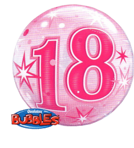 Cardiff Balloons - 18th Birthday pink bubbes