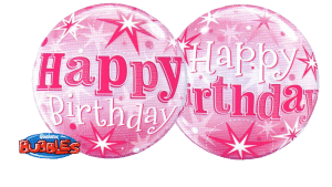 Cardiff Balloons Brings You A Pink Happy Birthday Bubb;e
