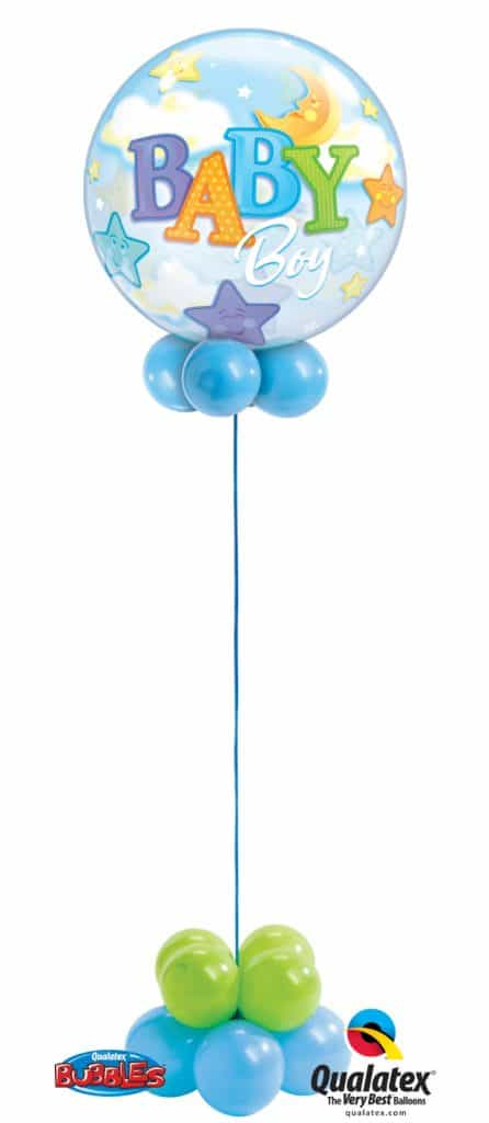 Baby Boy of Baby Girl Bubble available from Cardiff Balloons