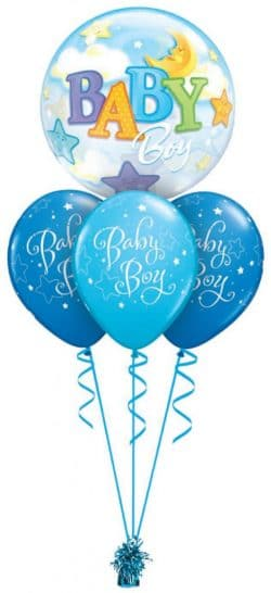Baby Boy Or Girl Bubble Layer available from Cardiff Balloons