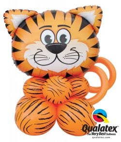 Tiger Head Super shaper decoration available from Cardiff Balloons