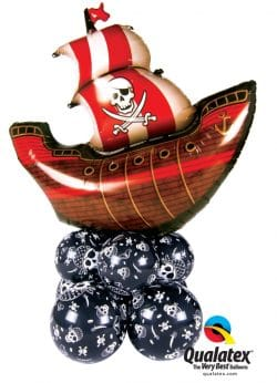 Pirate Ship super shaper decoration available from Cardiff balloons
