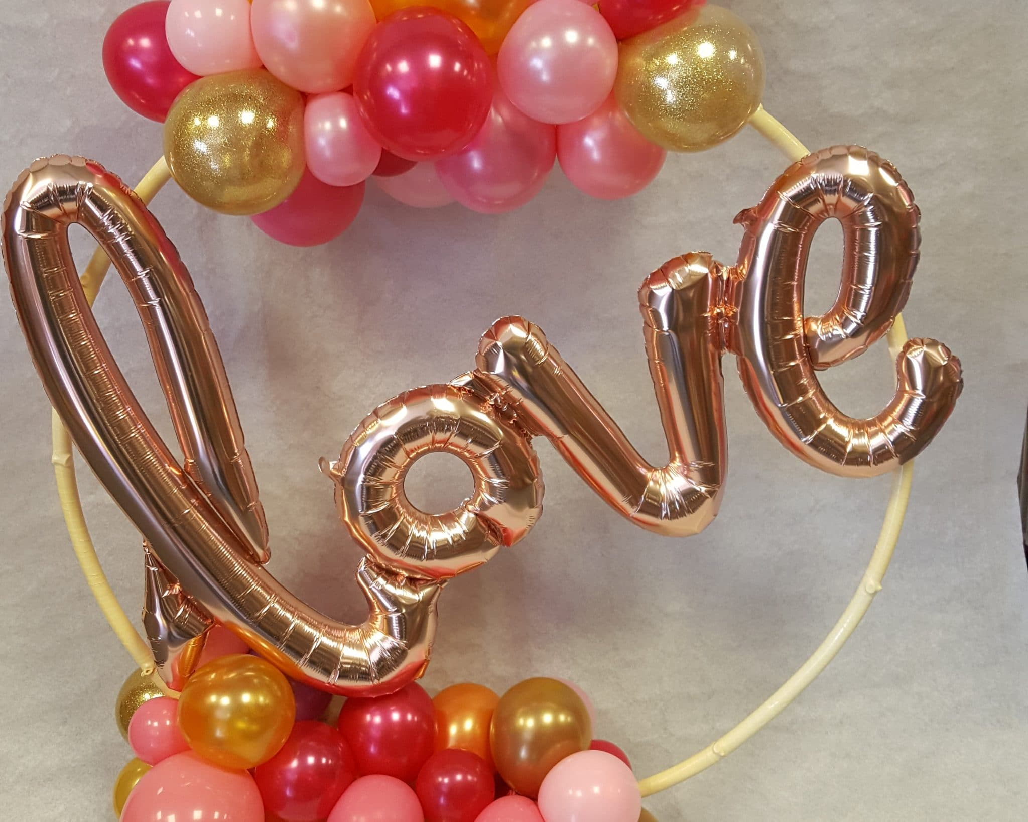 Balloons Barry Love Hoop By Cardiff Balloons