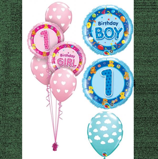 1st Birthday Balloon Bouquet from cardiff balloons