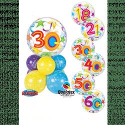 Birthday Bubble Stars Super