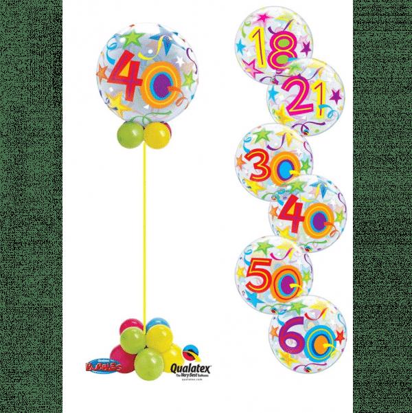 Birthday Bubble Display