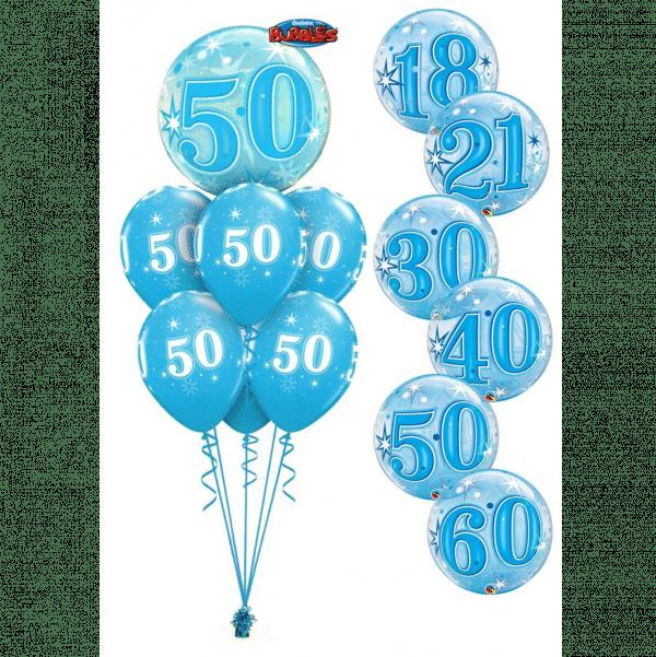 Blue Birthday Bubble Luxury