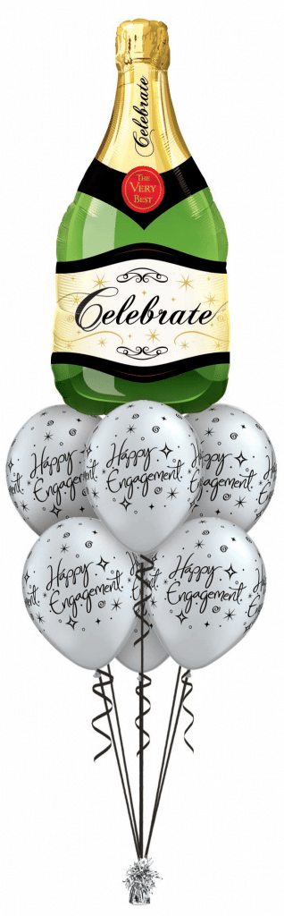 Champagne Luxury balloon bouquet available from Cardiff Balloons