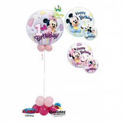 Disney 1st Birthday Bubble Balloon from Cardiff Balloons