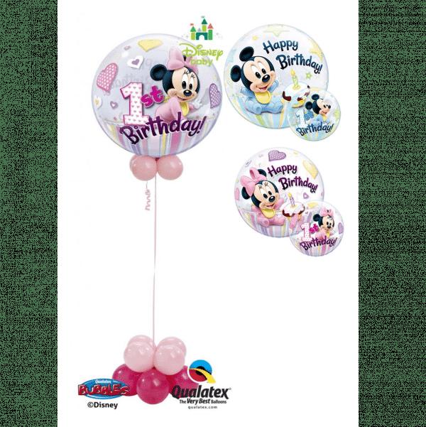 Disney 1st Birthday Bubble Balloon from Cardiff Balloons