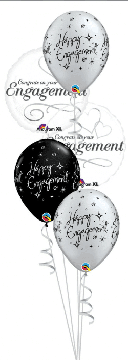 Engagement Classic balloon bouquet available from Cardiff Balloons