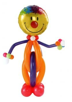 Giant Clown Balloon Man available from Cardiff Balloons