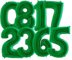 Giant Green Number Balloons