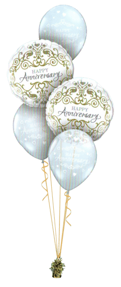 Happy Anniversary Classic balloon bouquet available from Cardiff Balloons