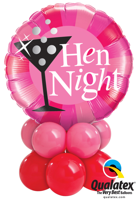 Hen Night Mini table decoration available from Cardiff Balloons