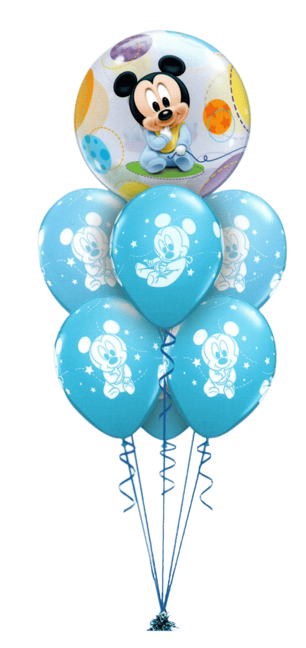 Mickey Mouse Baby Luxury balloon bouquet available from Cardiff Balloons