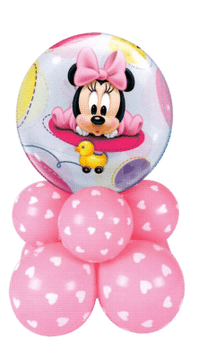 Minnie Mouse Baby Girl Super shaper table decoration available from Cardiff Balloons