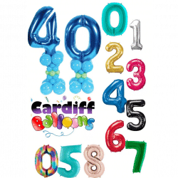Large Numbers On Mini Balloon Towers From Cardiff Balloons