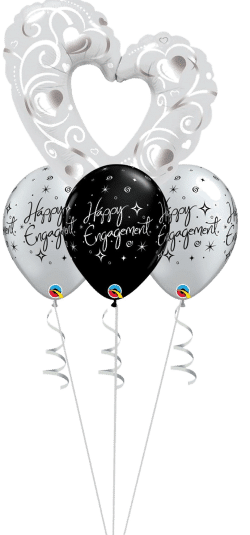Open Heart Layer balloon bouquet available from Cardiff Balloons