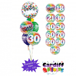 Party Time Bubble Classic Bouquet from Cardiff Balloons