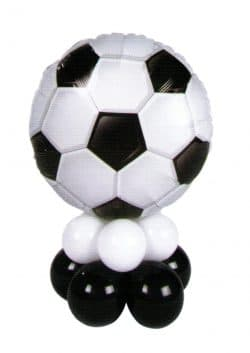 Football mini table decoration available from Cardiff Balloons
