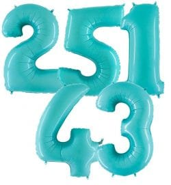 Giant Pale Blue Number Balloons