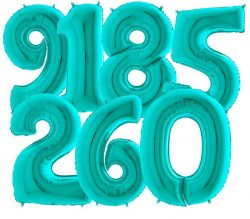 Giant Tiffany Blue Number Balloons