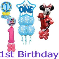 1st Birthday Balloon Designs