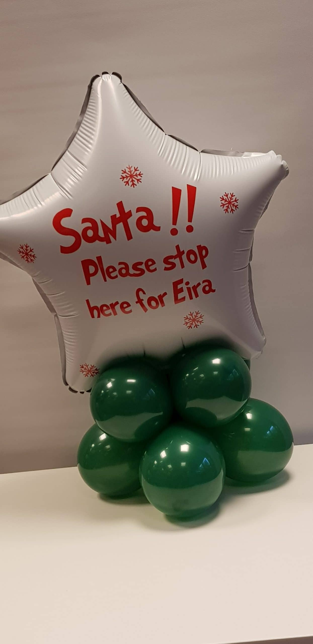 Santa Please stop here balloon available from Cardiff Balloons