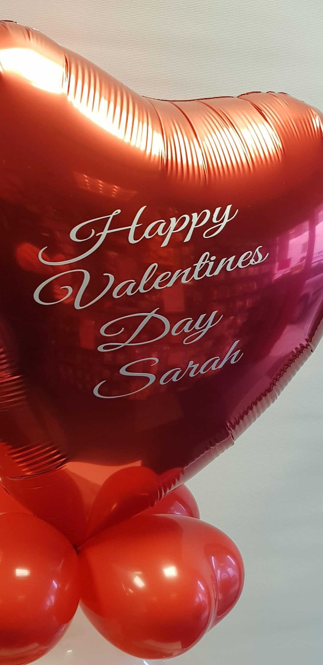 Valentines day foil heart available from Cardiff Balloons