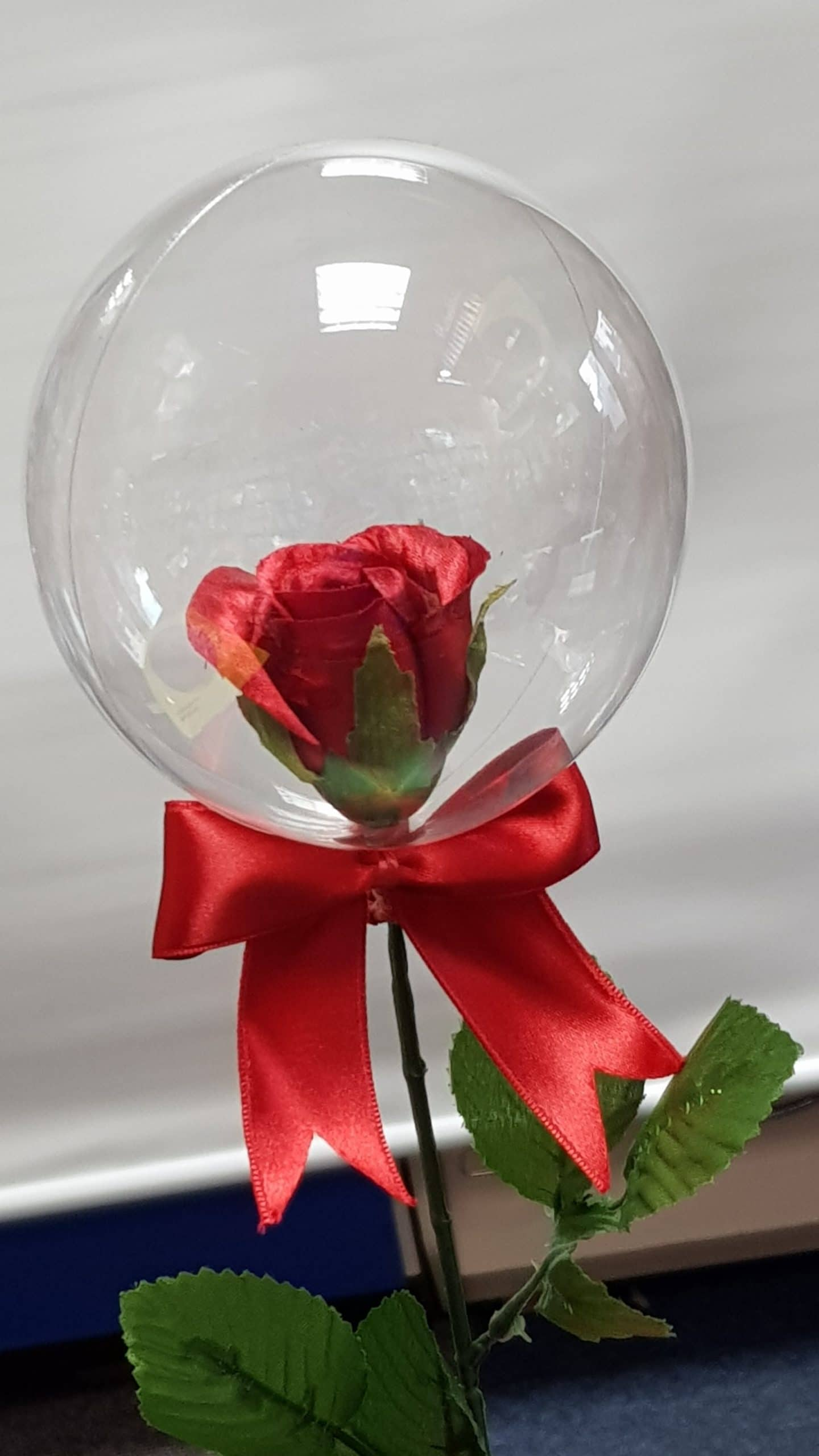 Balloon Rose available from Cardiff Balloons