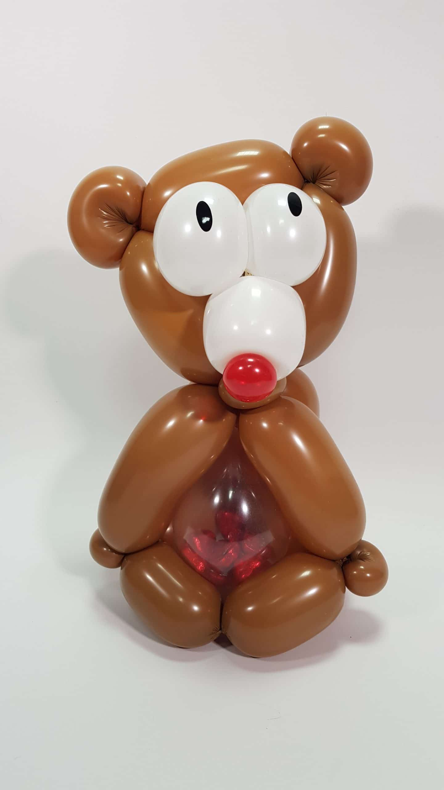 Valentines mini stuffed bear available from Cardiff Balloons