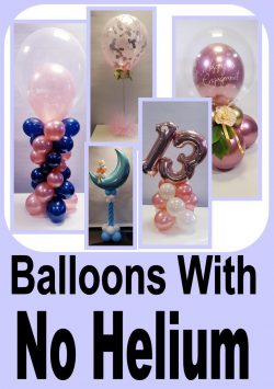 Helium Free Balloon Decor
