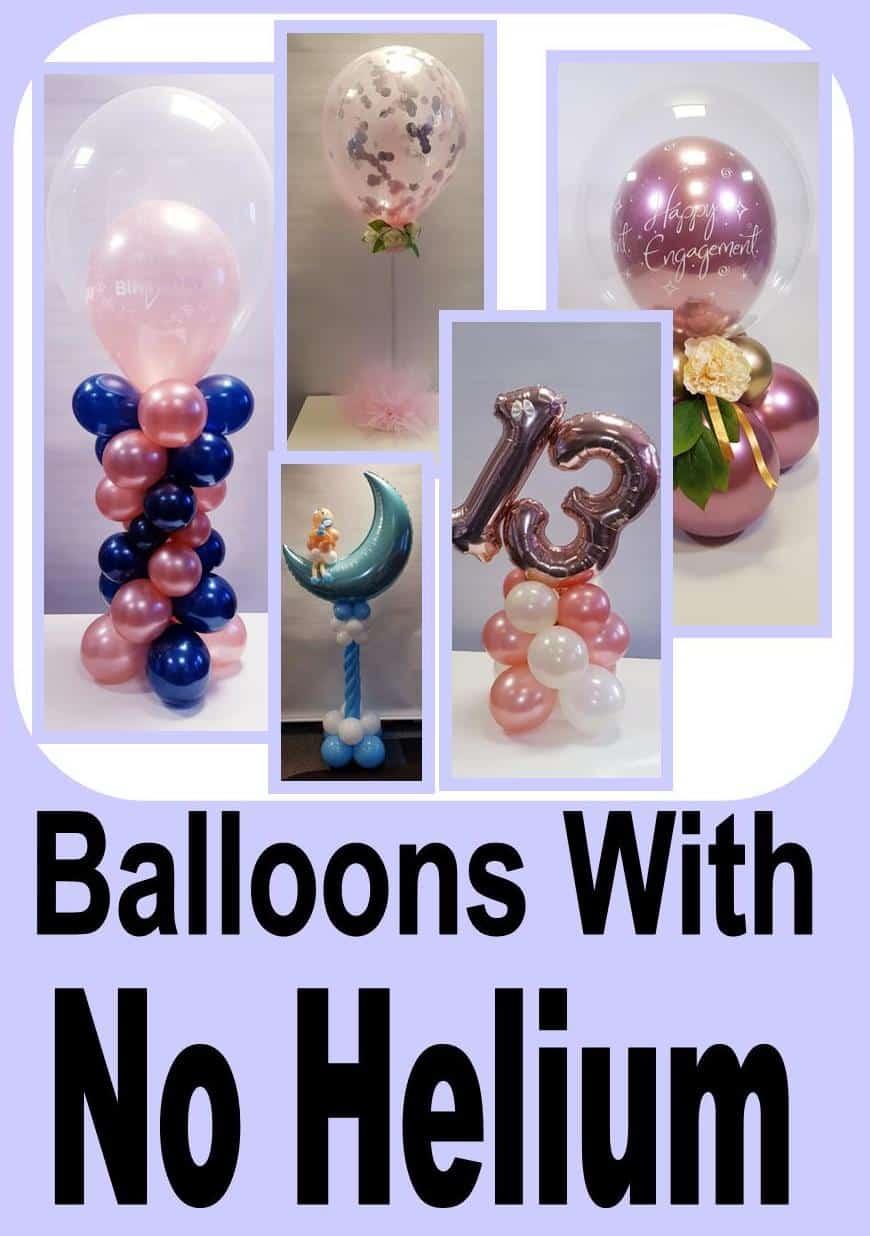 Helium Free Balloon Decor