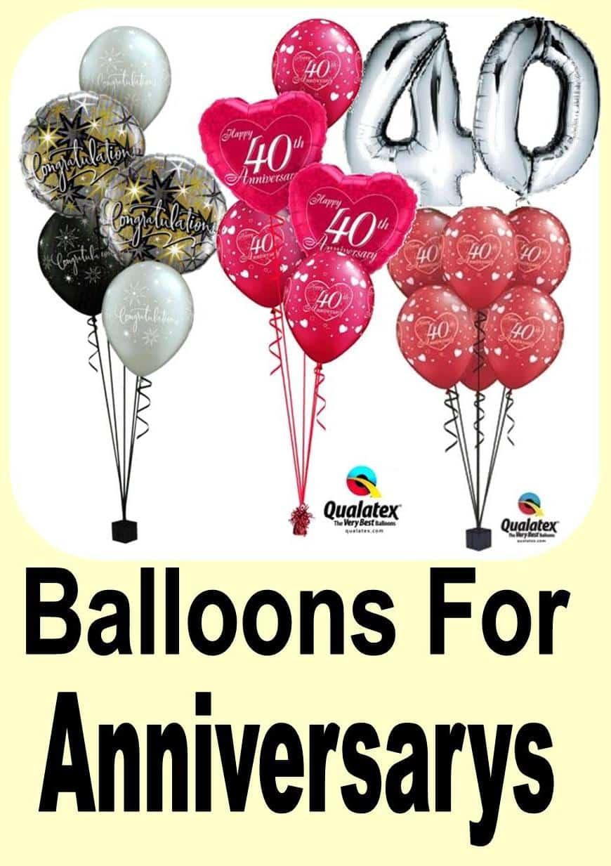 Anniversary Balloon Ideas