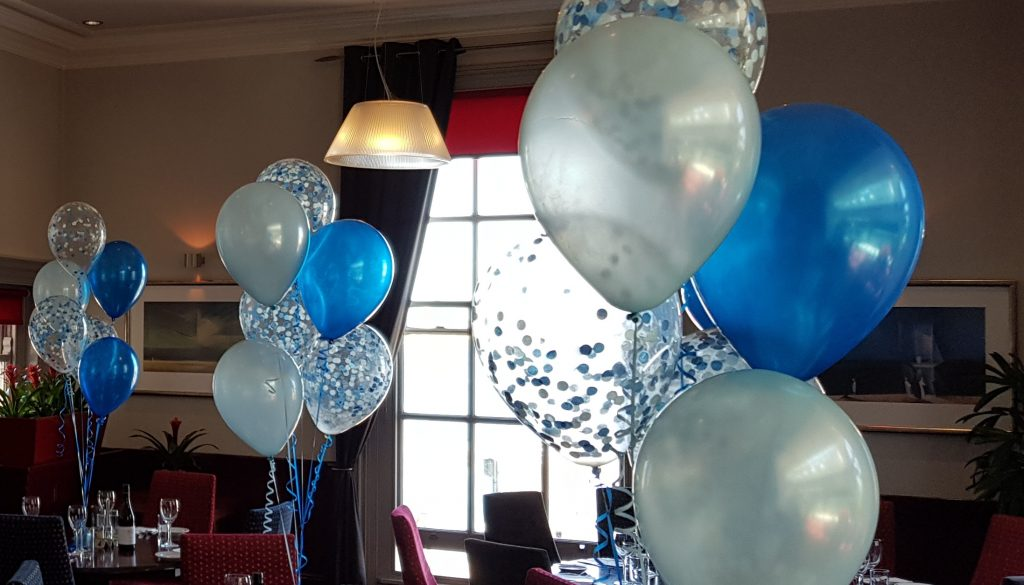 Confetti table decorations available from Cardiff Balloons