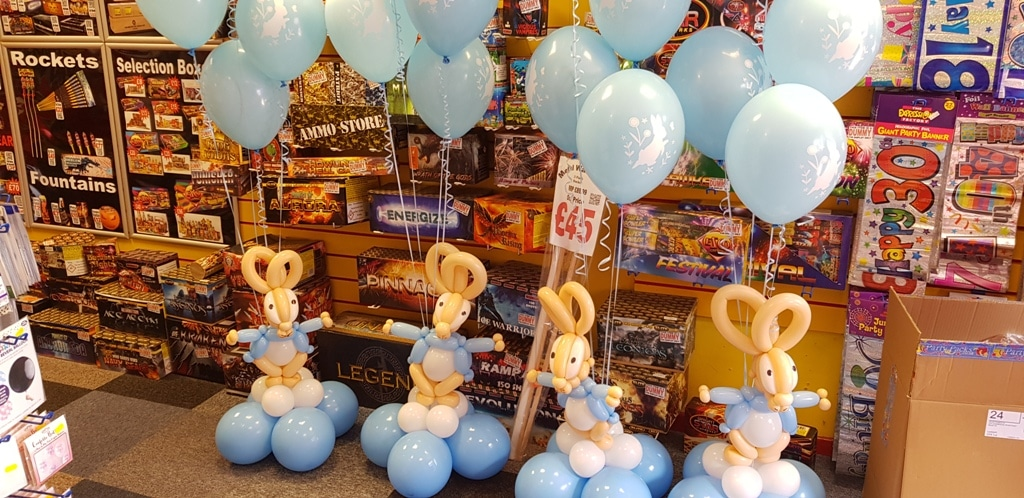 Peter Rabbit decorations available from Cardiff Balloons