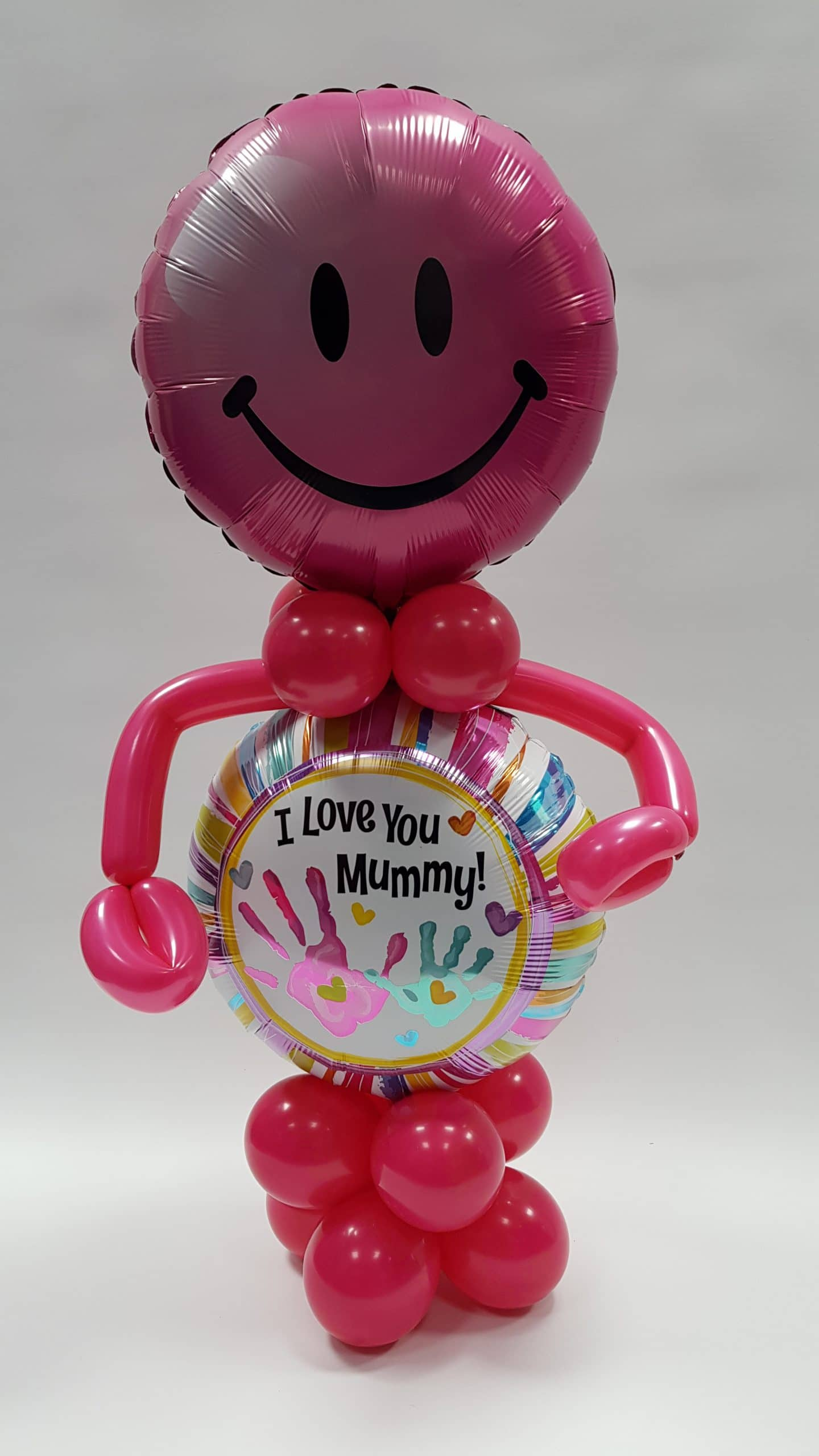 I love you mummy balloon man available from Cardiff Balloons