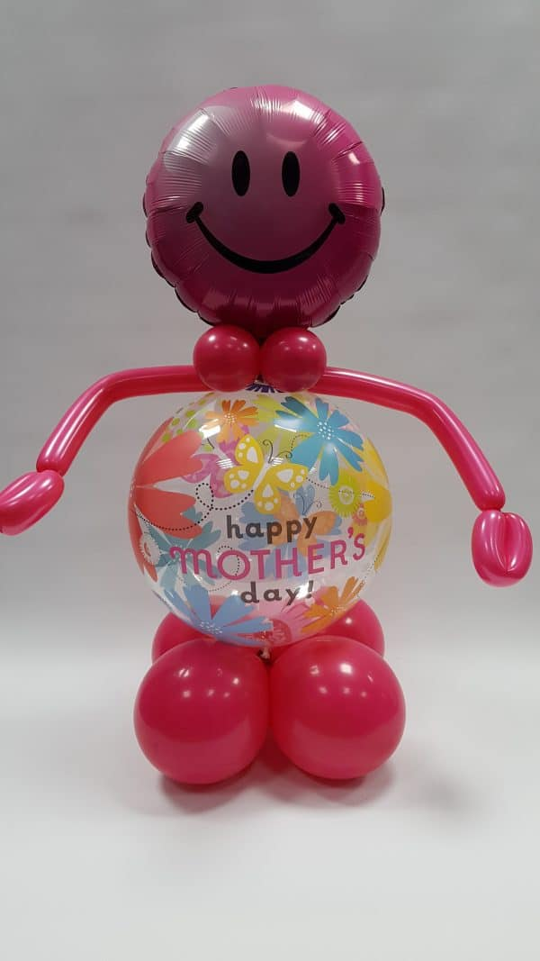 Mothers day Bubble Man available from Cardiff Balloons