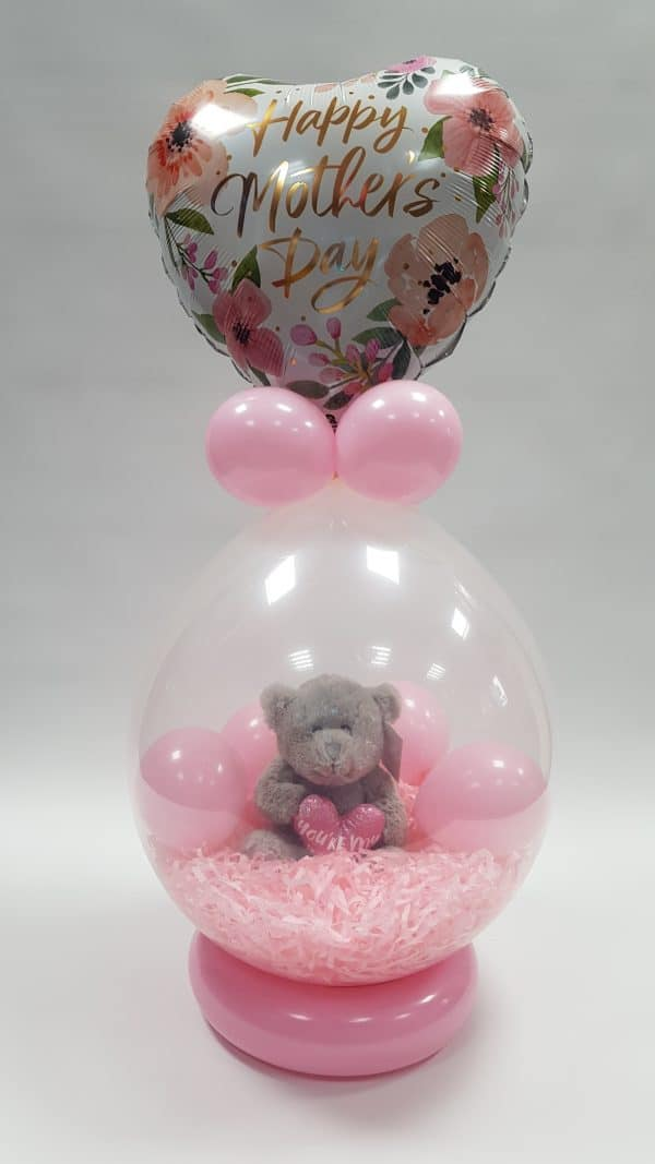 Mothers day stuffed balloon available from Cardiff Balloons