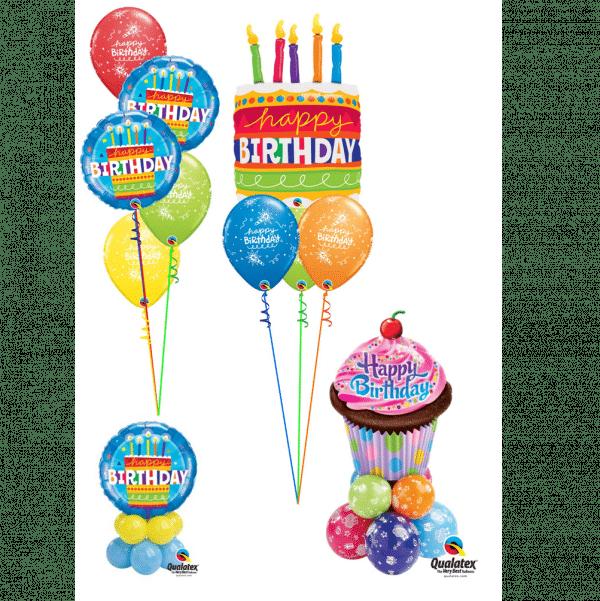 Birthday Cake Balloon Displays From Cardiff Balloons