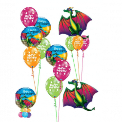Dragon Themed Balloon Bouquets From Cardiff Balloons
