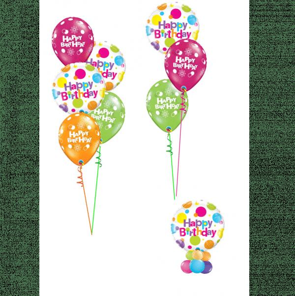 Spotty HAppy Birthday Balloons From Cardiff Balloons