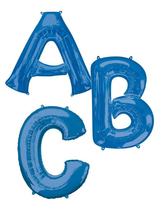 Blue giant letter balloons available from Cardiff Balloons