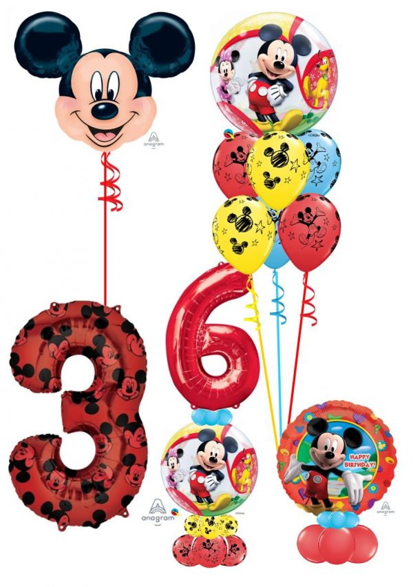 Mickey Mouse balloon decorations available from Cardiff Balloons