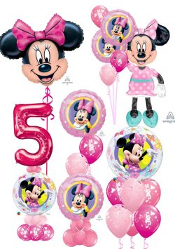 Mini Mouse balloon decorations available from Cardiff Balloons
