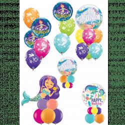 Mermaid Themed Birthday Balloons From Cardiff Balloons